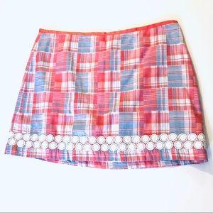 Vineyard Vines Madras Skirt, Size 16